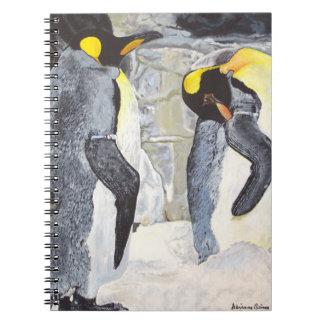 Caderno Pinguins de imperador no gelo
