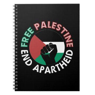 Caderno Preto livre do punho da bandeira do Apartheid do