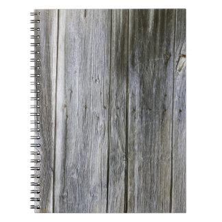 Caderno resistido da foto das pranchas da porta