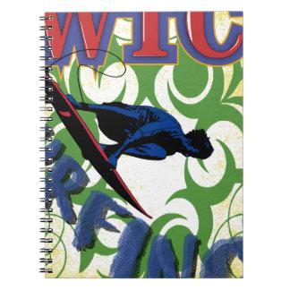 Caderno surfar tribal