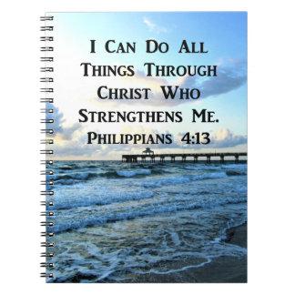 CADERNO VERSO BONITO DA BÍBLIA DO 4:13 DOS PHILIPPIANS