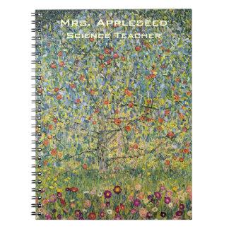 Cadernos Árvore de Apple por Gustavo Klimt, arte Nouveau do