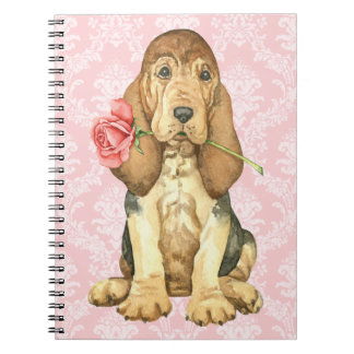 Cadernos Bloodhound cor-de-rosa dos namorados