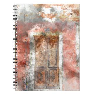 Cadernos casa colorida na ilha Veneza Italia de Burano