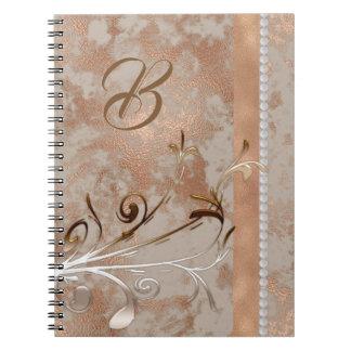 Cadernos Design cor-de-rosa do ouro do falso customizável