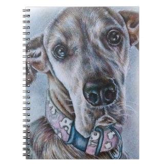 Cadernos Design do desenho do cão de great dane