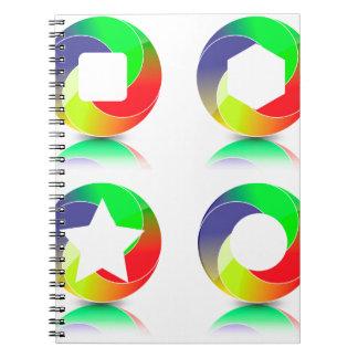 Cadernos Espirais 152Set de Icons_rasterized