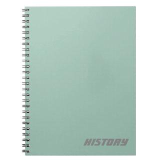 Cadernos Espirais Assunto macio do azul de pó/caderno conhecido