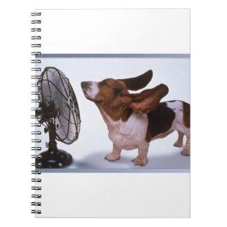 Cadernos Espirais Brisa - cão e fã