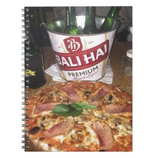 Cadernos Espirais Cerveja e pizza de Bali