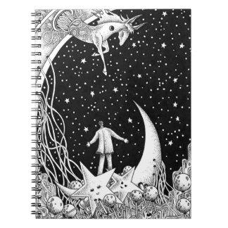 Cadernos Espirais Céu estrelado da fantasia