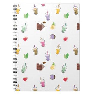 Cadernos Espirais Chá da bolha de Kawaii