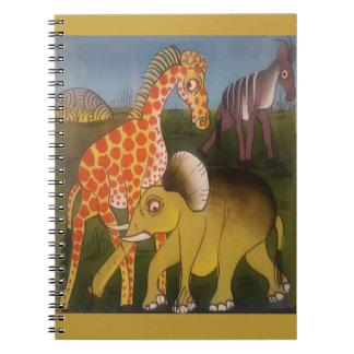 Cadernos Espirais Cor africana surpreendente bonita do safari do