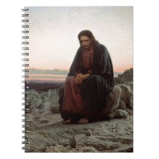 Cadernos Espirais Cristo de Ivan Kramskoy- nas belas artes da região