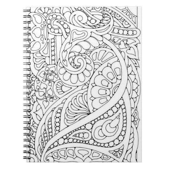 Cadernos Espirais Faça-o você mesmo página da coloração