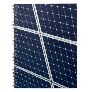 Cadernos Espirais Imagem de um painel de energias solares engraçado