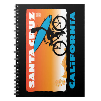 Cadernos Espirais Laranja da menina do surfista de Stephen Hosmer