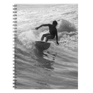 Cadernos Espirais Montando o Grayscale da onda