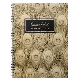 Cadernos Espirais Nome luxuoso do costume das penas de pássaro do