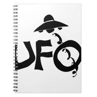 Cadernos Espirais objeto de vôo não identificado do UFO