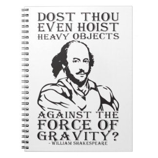 Cadernos Espirais Objetos pesados da grua de mil de Dost mesmo? -