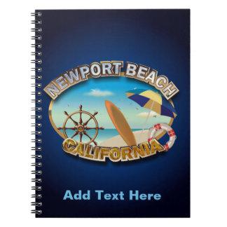 Cadernos Espirais Praia de Newport, Califórnia