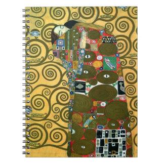 Cadernos Espirais Realização aka o abraço por Gustavo Klimt