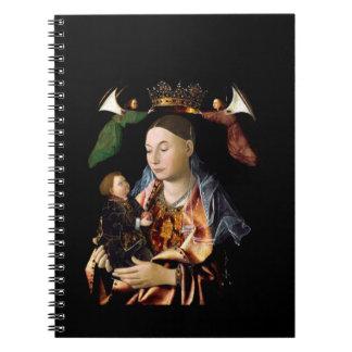 Cadernos Espirais Salgando Madonna e a criança do cristo