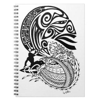 Cadernos Espirais Surf da meia-noite