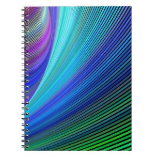 Cadernos Espirais Surfar em uma onda mágica