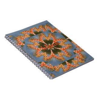 Cadernos Espirais Vazio colorido africano surpreendente bonito do