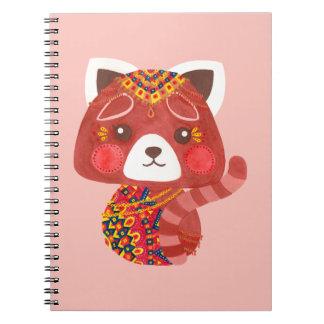 Cadernos Espiral A panda vermelha bonito