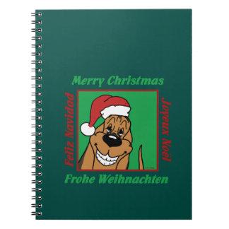 Cadernos Espiral Bloodhound Weihnacht