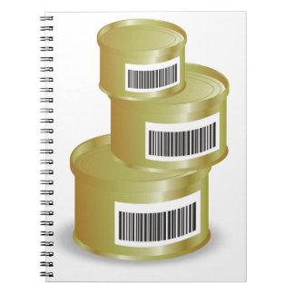 Cadernos Espiral comida 105Canned _rasterized