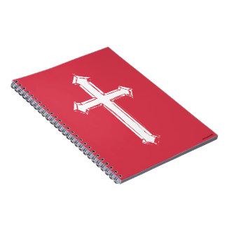 Cadernos Espiral Cruz branca