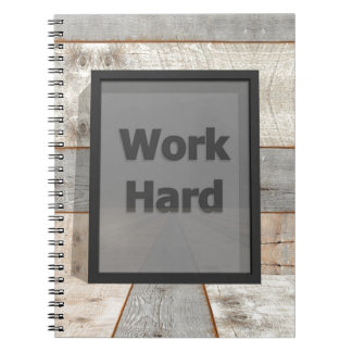 Cadernos Espiral Duro do trabalho