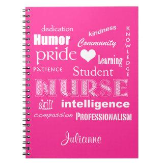 Cadernos Espiral Enfermeira-Atributos do estudante+O coração/person