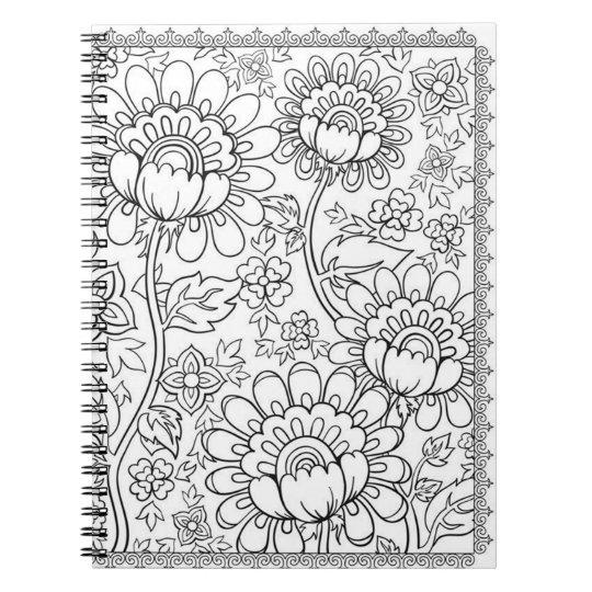 Cadernos Espiral Faça-o você mesmo página da coloração