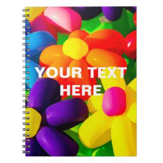 Cadernos Espiral Flores de balão do brinquedo