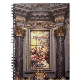 Cadernos Espiral Glassart do altarpiece do altar da igreja