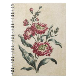 Cadernos Espiral Ilustração conservada em estoque dobro floral