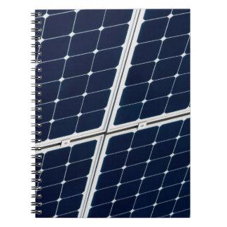 Cadernos Espiral Imagem de um painel de energias solares engraçado