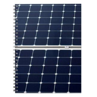 Cadernos Espiral Imagem do painel de energias solares engraçada