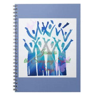 Cadernos Espiral Jesus é a canção que meu espírito canta