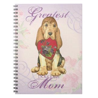Cadernos Espiral Mamã do coração do Bloodhound