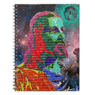 Cadernos Espiral O cosmos da galáxia do espaço do Jesus Cristo