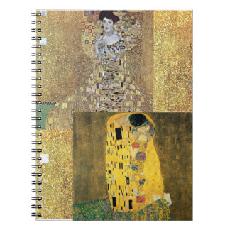 Cadernos Espiral Ouro clássico das belas artes da pintura de Klimt