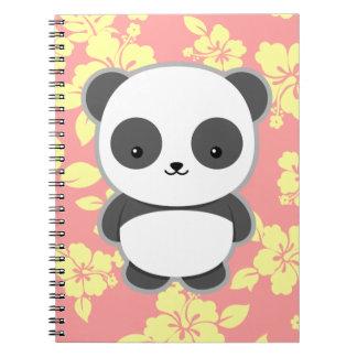 Cadernos Espiral Panda de Kawaii