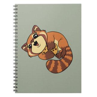 Cadernos Espiral Panda vermelha!