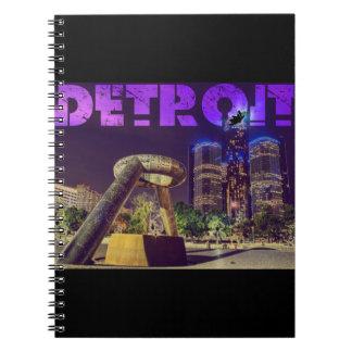 Cadernos Espiral Plaza do cervo de Detroit